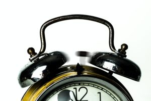 alarm clock one minute to midnight